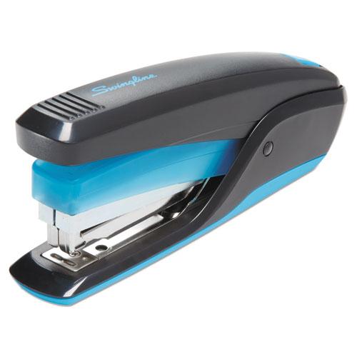 QuickTouch Reduced Effort Full Strip Stapler, 20-Sheet Capacity, Black/Blue | by Plexsupply