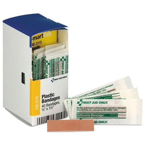 Refill f/SmartCompliance Gen Business Cabinet, Plastic Bandages, 3/8 x1.5, 40/Bx
