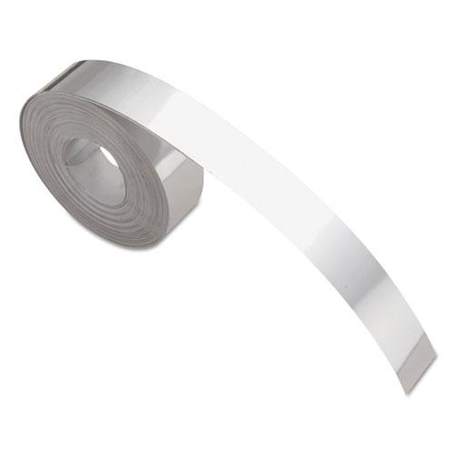"Rhino Metal Label Self-Adhesive Tape, 0.5"" x 12 ft, Aluminum | by Plexsupply"