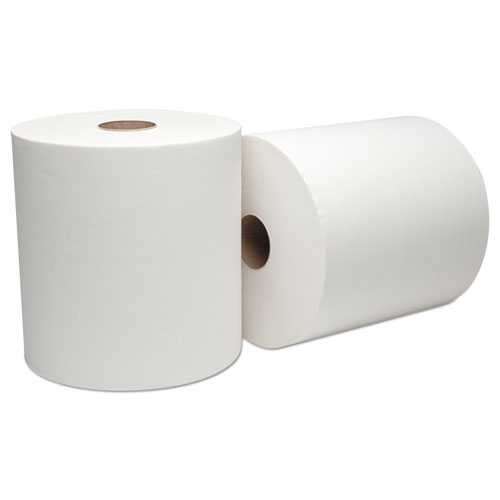 Boardwalk Green Xtra Roll Towels,1-Ply, 8x800 ft, White, 330 Rls/55 Ctn/Pallet