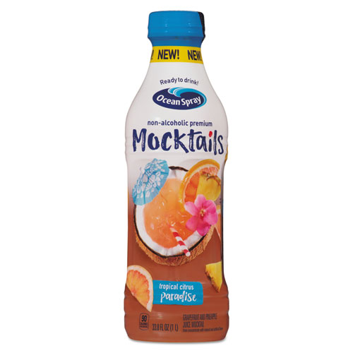 Ocean Spray® Mocktails, Cranberry Peach Bellini, 1 L, 8/Carton
