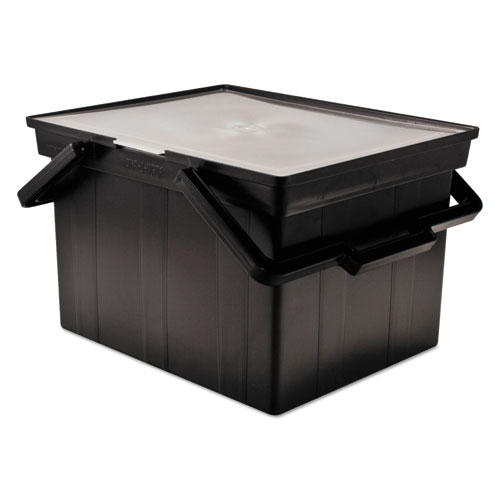 "Companion Portable File, Letter/Legal Files, 17"" x 14"" x 11"", Black 