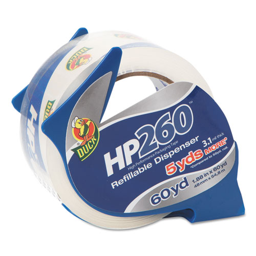HP260 Packaging Tape with Dispenser, 3 Core, 1.88 x 60 yds, Clear