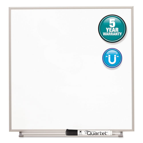 Matrix Magnetic Boards, Painted Steel, 16 x 16, White, Aluminum Frame | by Plexsupply