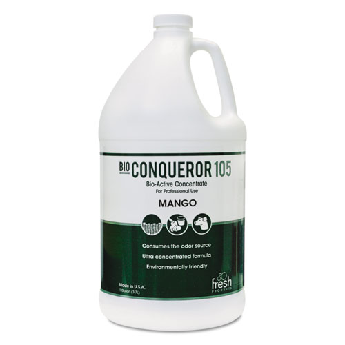 Bio Conqueror 105 Enzymatic Odor Counteractant Concentrate, Mango, 1 gal, 4/Carton