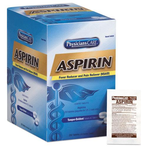 PhysiciansCare® Aspirin Tablets, 250 Doses per box
