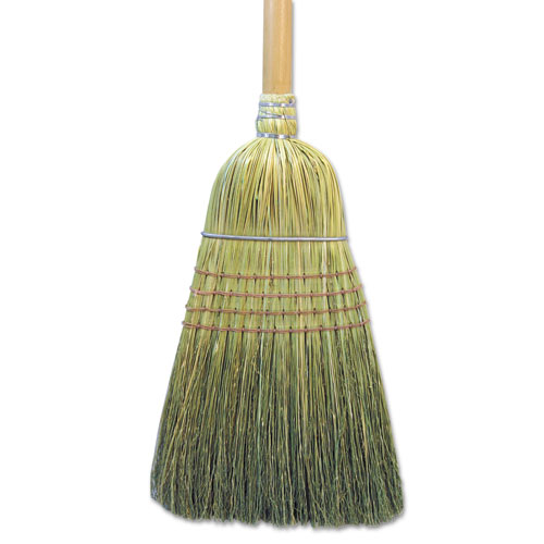"Warehouse Broom, Corn Fiber Bristles, 56"" Overall Length, Natural 