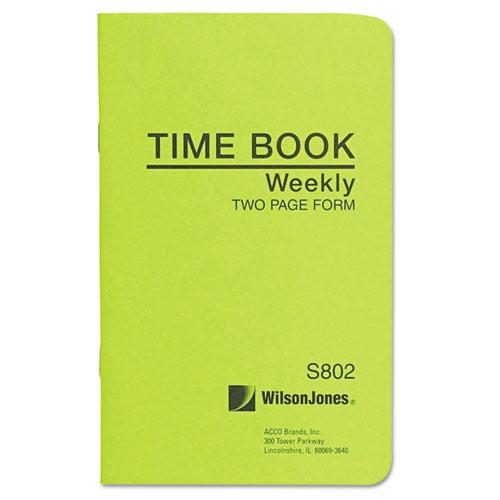 Wilson jones - foreman's time book, week ending, 4-1/8 x 6-3/4, 36-page book, sold as 1 ea