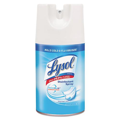 Disinfectant Spray, Crisp Linen, 7 oz Aerosol, 12/Carton