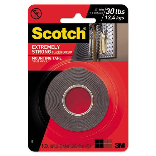 Extreme Mounting Tape, 1 x 60, Black