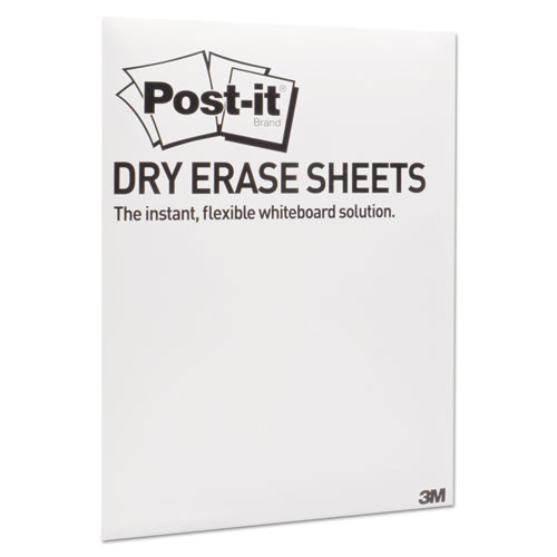 "Post-it® Super Sticky Dry Erase Surface with Adhesive Backing, 15"" x 11"", White, 15/Pack"