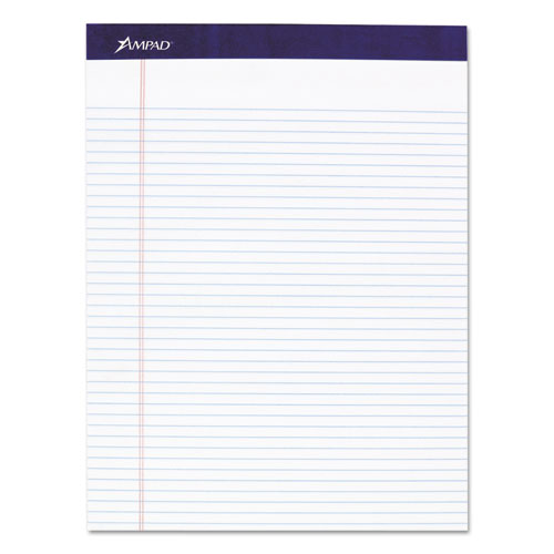 Legal Ruled Pads, Narrow Rule, 8.5 x 11.75, White, 50 Sheets, 4/Pack   by Plexsupply