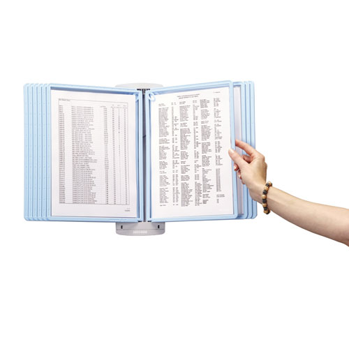 SHERPA Style Wall-Mount Reference System, 20 Sheet Capacity, Blue/Gray