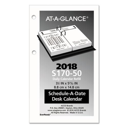 Financial Desk Calendar Refill 3 1 2 X 6 White 2018