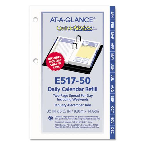 Calendar Refill Pages : Quicknotes desk calendar refill