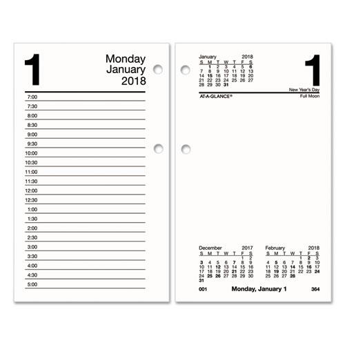 Academic Calendar Planner Refill : Recycled desk calendar refill  white