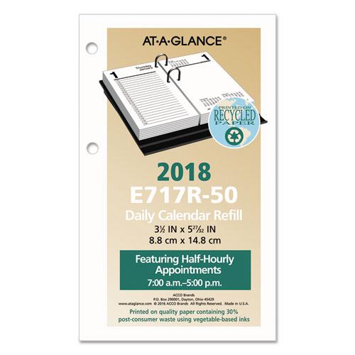 Recycled Desk Calendar Refill 3 1 2 X 6 White 2019