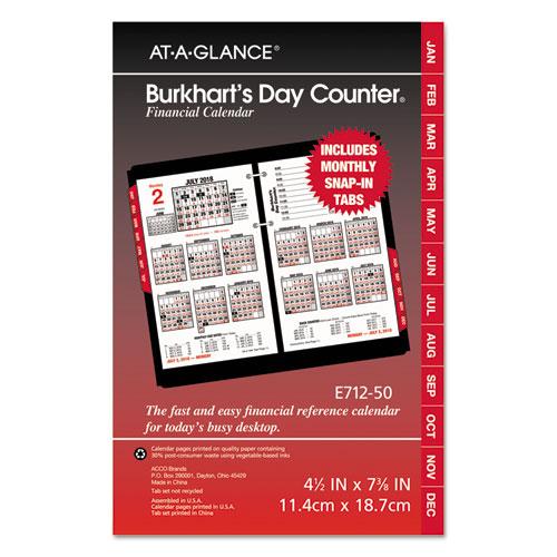 Planner Calendar Refills : Burkhart s day counter desk calendar refill