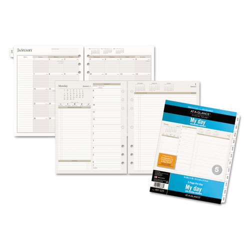 at a glance day runner two pages per day planning pages 5 1 2 x 8