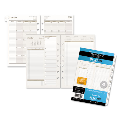 two pages per day planning pages 5 1 2 x 8 1 2 2019
