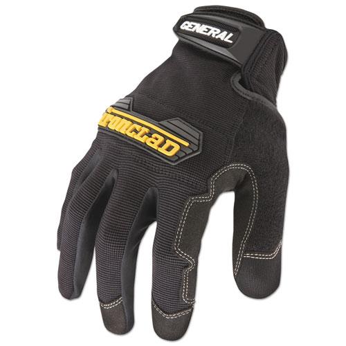 General Utility Spandex Gloves, Black, Medium, Pair   by Plexsupply