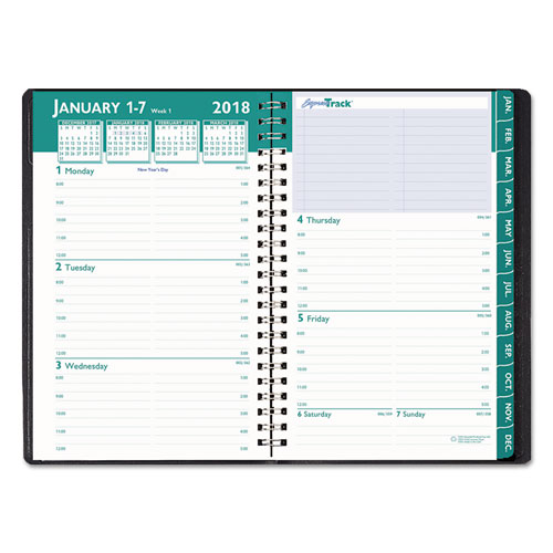 Weekly Calendar Book : Recycled express track weekly monthly appointment book