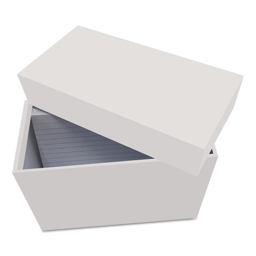 Index Card Box with 100 Ruled Index Cards, 3 x 5, Gray