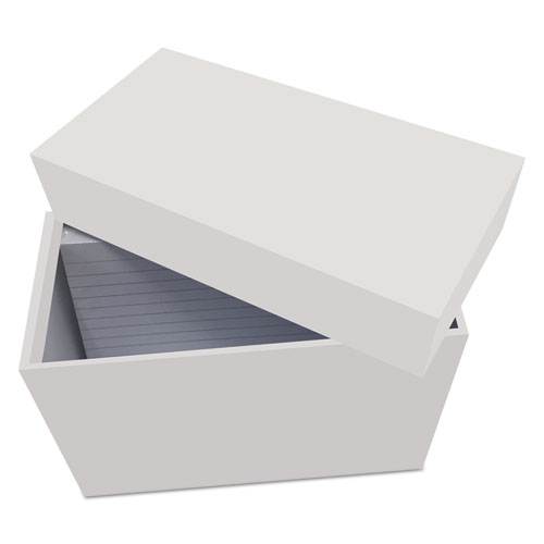 Index Card Box with 100 Ruled Index Cards, 4 x 6, Gray