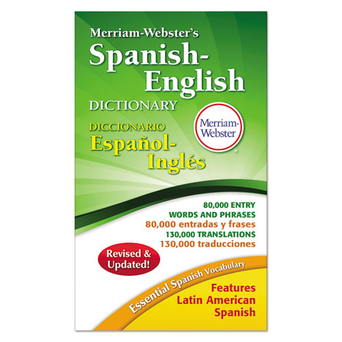 Merriam-Webster's Spanish-English Dictionary, 928 Pages | by Plexsupply