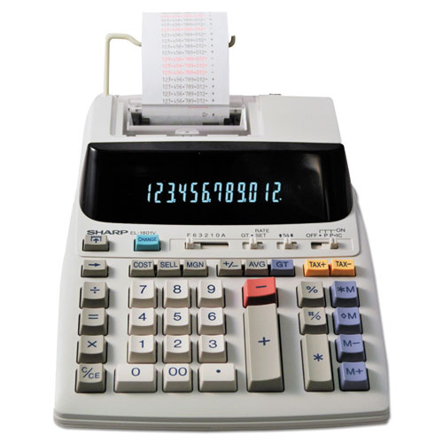 EL-1801V Two-Color Printing Calculator, Black/Red Print, 2.1 Lines/Sec | by Plexsupply