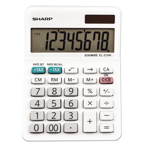 Sharp® EL-310WB Mini Desktop Calculator, 8-Digit LCD