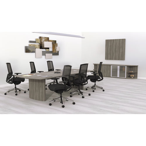 Medina Conference Table Top HalfSection X Gray Steel - Medina conference table