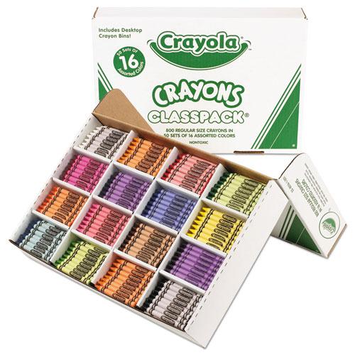 Classpack Regular Crayons, 16 Colors, 800/BX | by Plexsupply