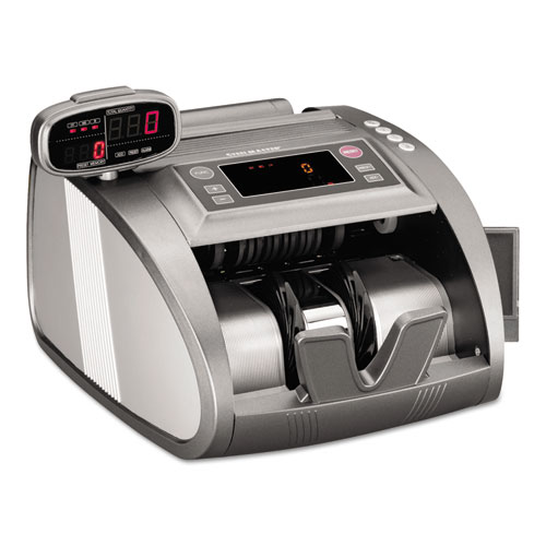 4820 Bill Counter with Counterfeit Detection, 1200 Bills/Min, Charcoal Gray