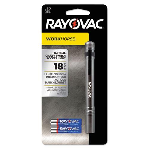 Rayovac® Industrial LED Pen Light, 2 AAA Batteries, Machined Aluminum, 1.5 V