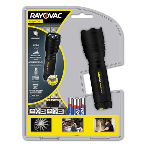 Rayovac® LED Aluminum Flashlight, 3 AAA, Black