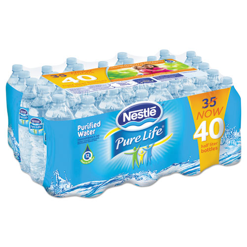 Nestle Waters® Pure Life Purified Water, 16.9 oz Bottle, 48 Ct/ Pallet