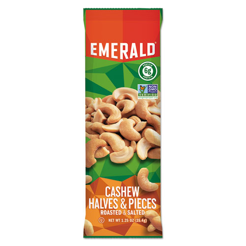 Cashew Pieces, 1.25 oz. Tube Package, 12/Box 94017