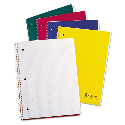 Oxford™ Earthwise by Oxford Recycled 1-Subject Notebooks, 11 x 8 1/2, WE, 100 SH