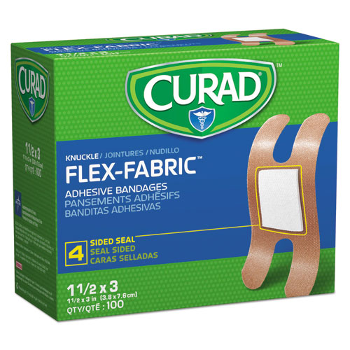 Flex Fabric Bandages, Knuckle, 100/Box | by Plexsupply