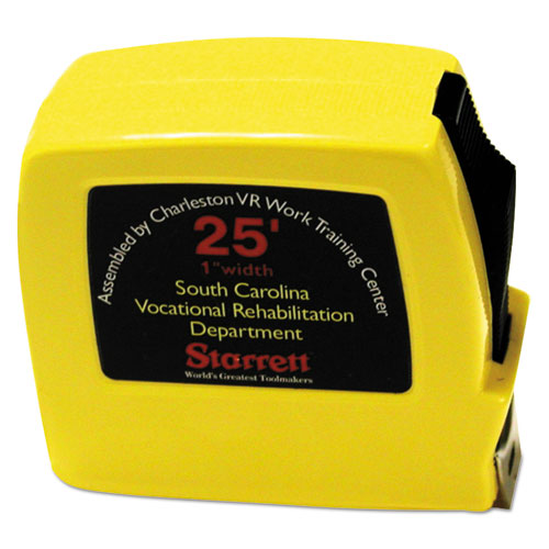 "5210011397444, Tape Measure, Locking, Steel/Plastic, 1"" x 25ft, Yellow"