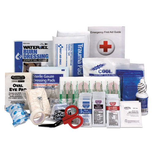 ANSI 2015 Compliant First Aid Kit Refill, Class A, 25 People, 89 Pieces | by Plexsupply