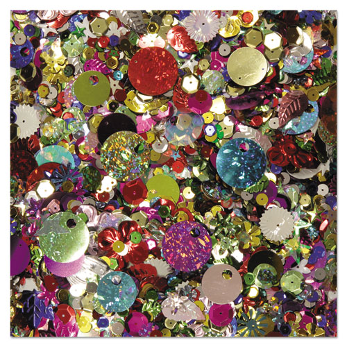 Sequins  Spangles, Assorted Metallic Colors, 4 oz/Pack