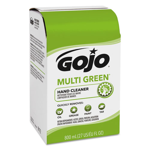 MULTI GREEN Hand Cleaner 800 mL Bag-in-Box Dispenser Refill, Citrus, 12/Carton