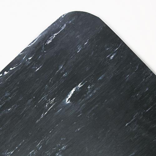 Cushion-Step Surface Mat, 36 x 60, Spiffy Vinyl, Black