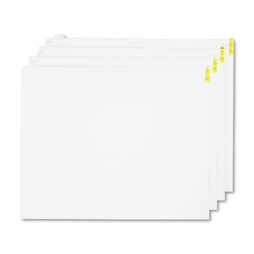 Walk-N-Clean Mat 60-Sheet Refill Pad, 30 x 24, 4/Carton, White | by Plexsupply