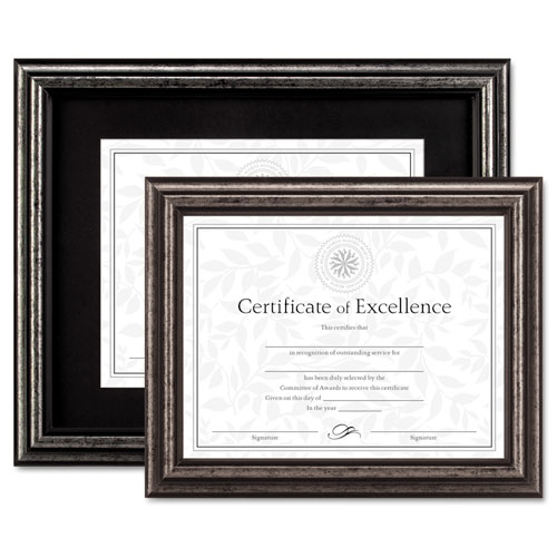 DAX® Document Frame, Desk/Wall, Wood, 8-1/2 x 11, Antique Charcoal ...