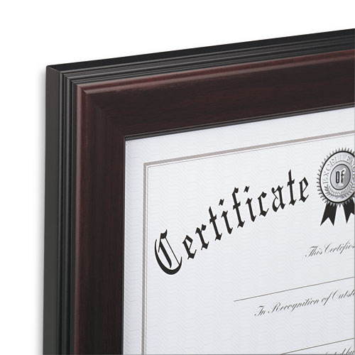 rosewood document frame wall mount plastic 8 1 2 x 11. Black Bedroom Furniture Sets. Home Design Ideas