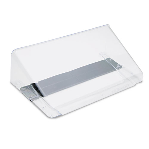Magnetic DocuPocket Wall File, Letter, 13 x 7 x 4, Clear