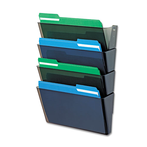 Def73402 Deflecto 174 Docupocket Four Pocket Wall Set Zuma